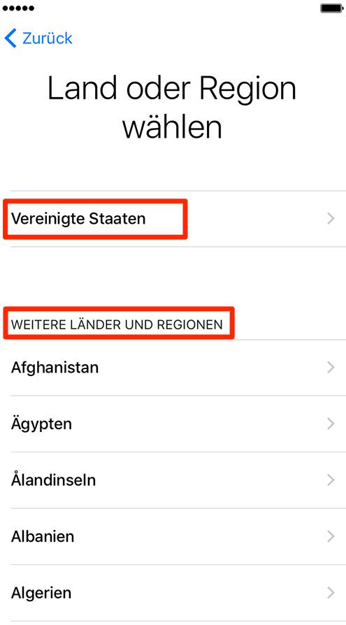 Sprache einstellen – neues iPhone einrichten