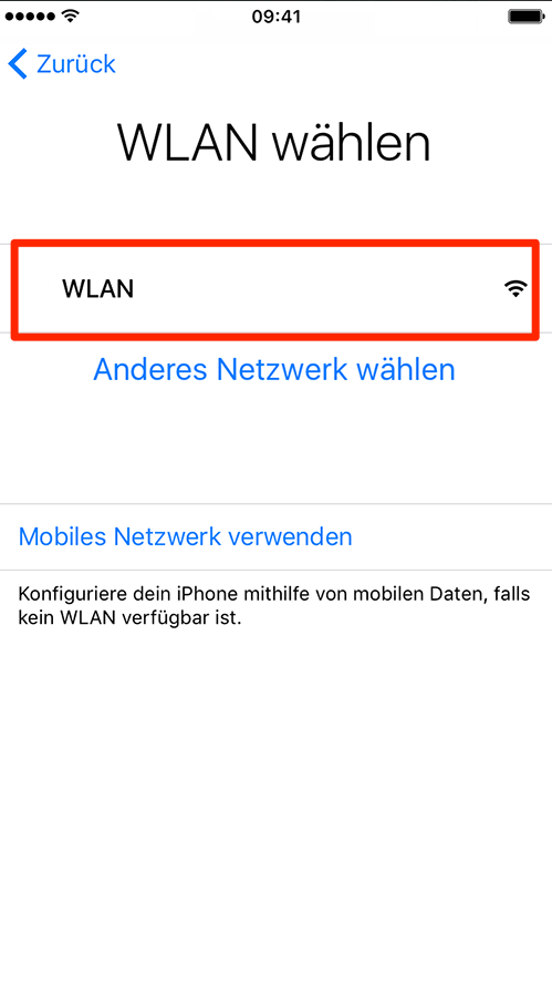 iPhone 8 mit WLAN-Netzwerk verbinden – iPhone einrichten