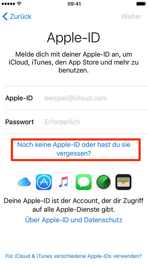 Apple-ID erstellen – neues iPhone konfigurieren