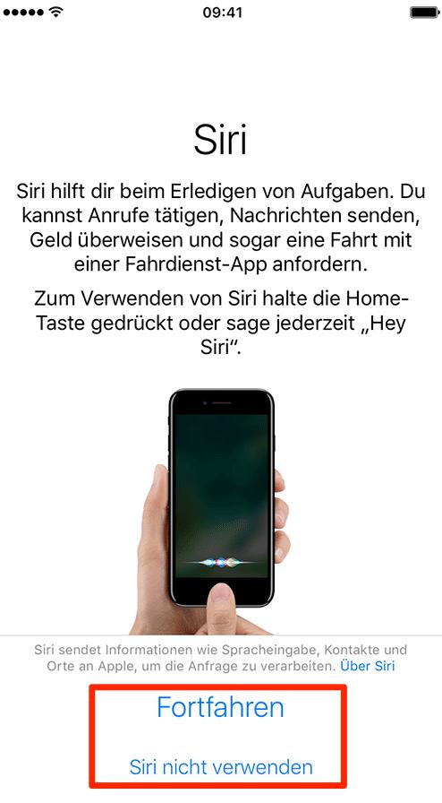 Siri konfigurieren – iPhone 8 einrichten