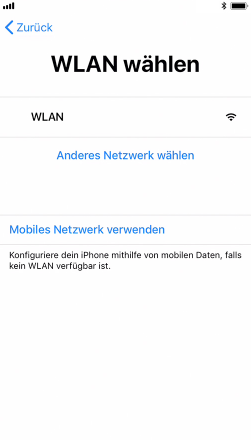 Neues iPhone einrichten – Wählen Sie ein Netzwerk aus