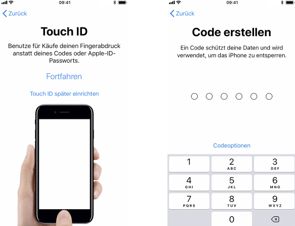 Neues iPhone einrichten – Touch-ID, Face-ID festlegen