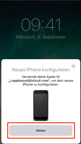 iPhone neu konfigurieren