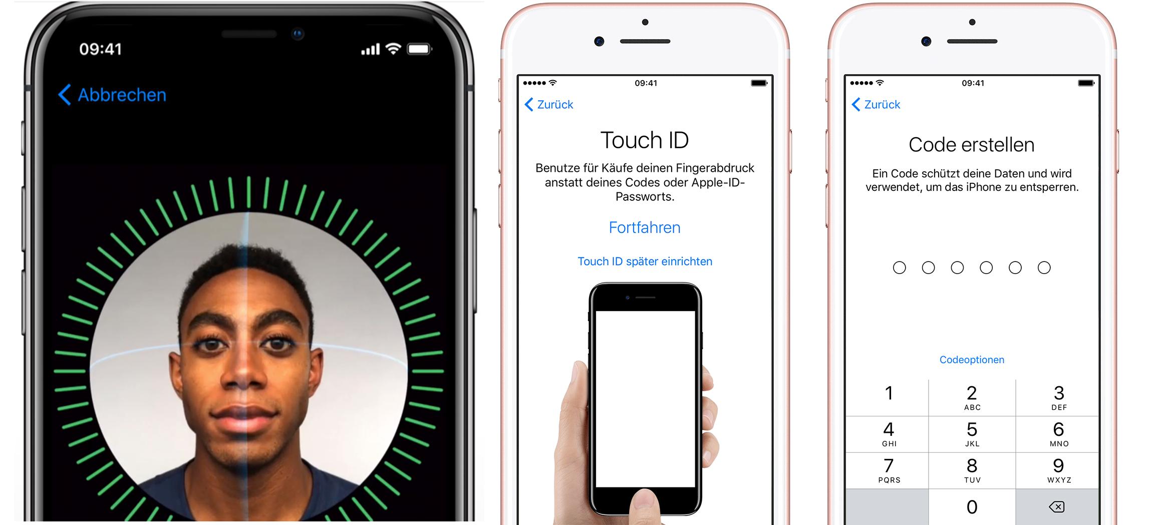 Face ID/Touch ID einrichten