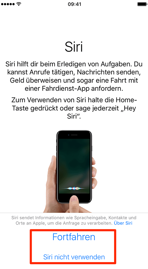 neues iphone 7 konfigurieren