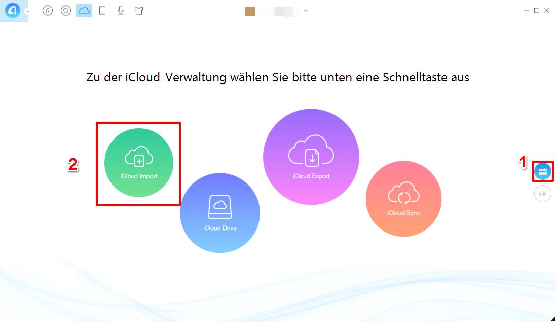 Notizen in iCloud importieren – Schritt 3