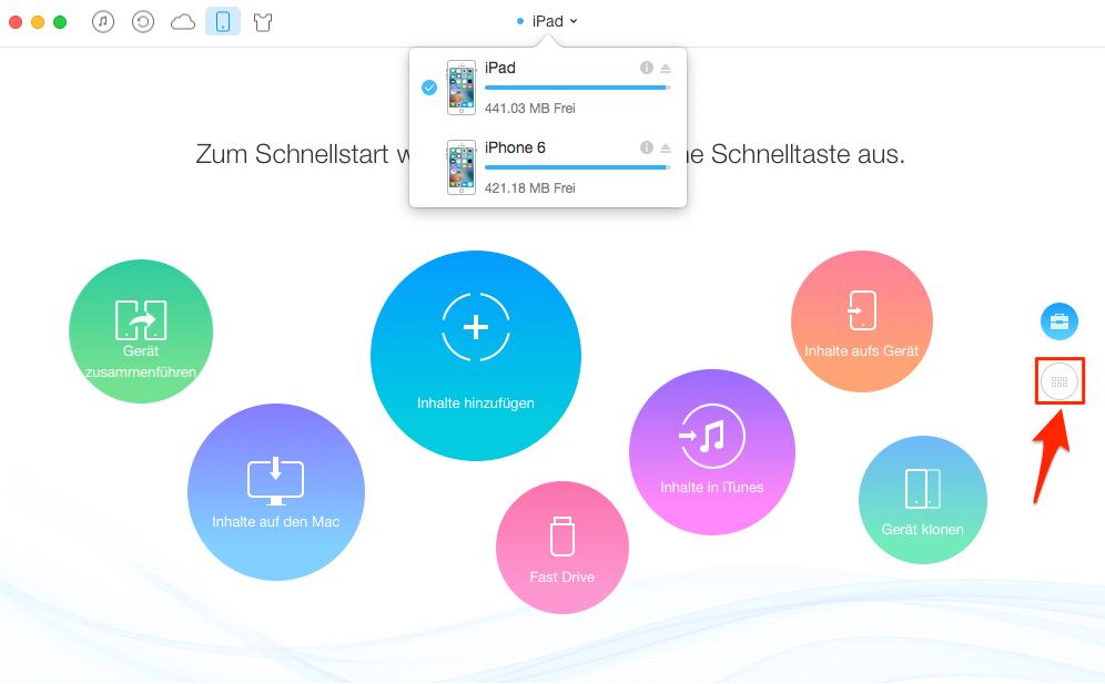 Notizen auf iPad übertragen – Schritt 1