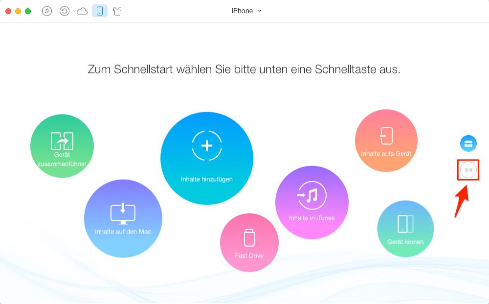 Notizen von iPhone auf Mac – Schritt 1