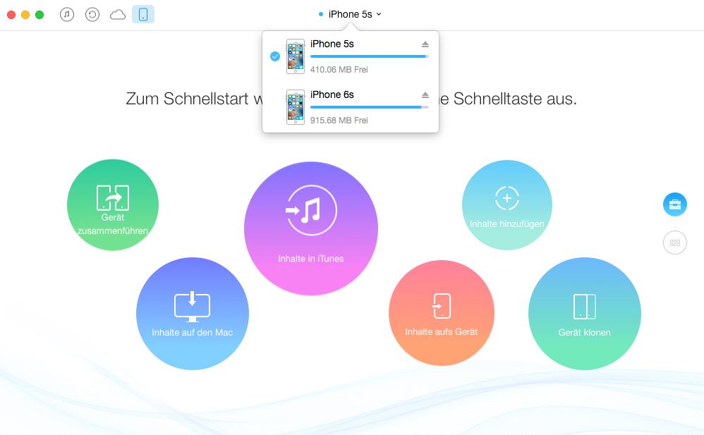 iPhone Notizen exportieren – Schritt 1