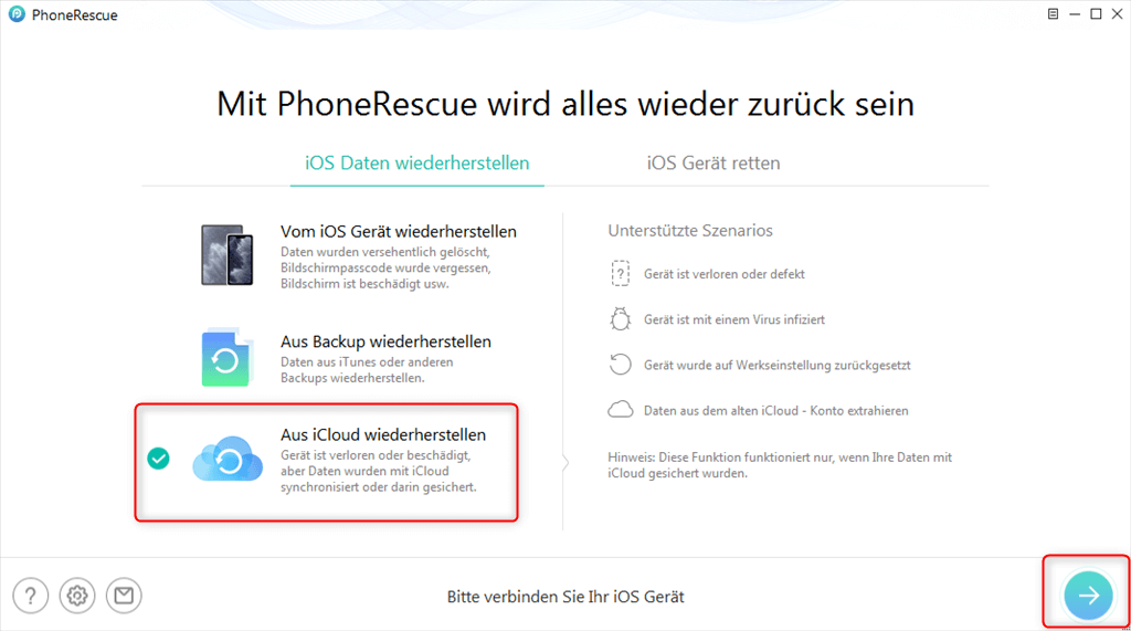 phonerescue-aus-icloud-wiederherstellen