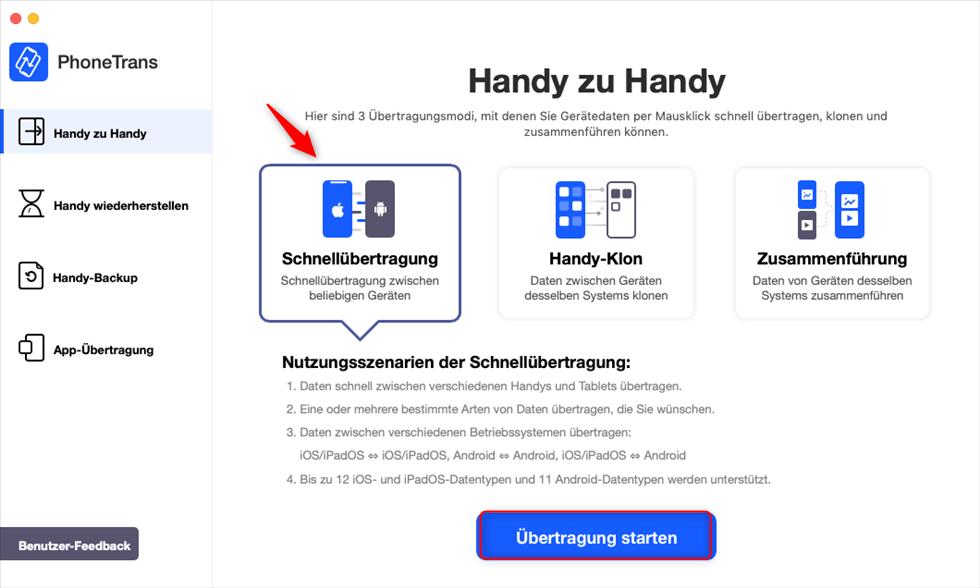 phonetrans-schnelluebertragung-uebertragen-starten