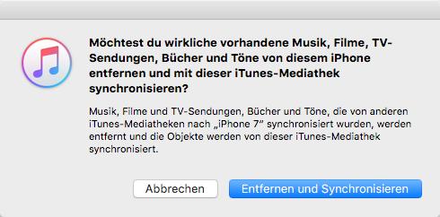 Musik vom iPad auf iPhone X/8/7 (Plus) übertragen – Schritt 4