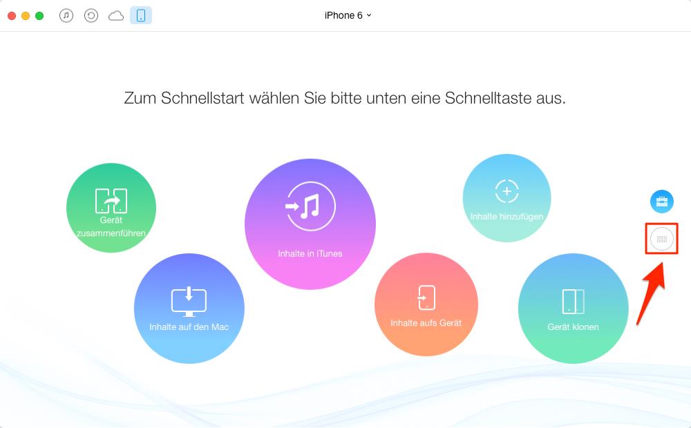iPhone Playlist auf Mac übertragen – Schritt 1