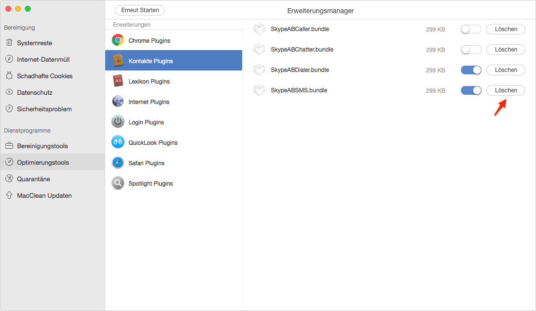 Schnell! Plugins vom Mac entfernen – Schritt 2