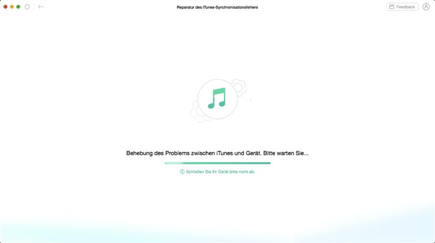 Probleme beheben zwischen iTunes und Geräten