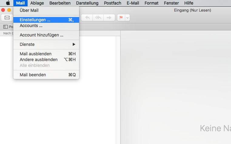 macOS High Sierra/MacOS Sierra/El Capitan Probleme – Mail Willkommen-Nachrichten stoppen
