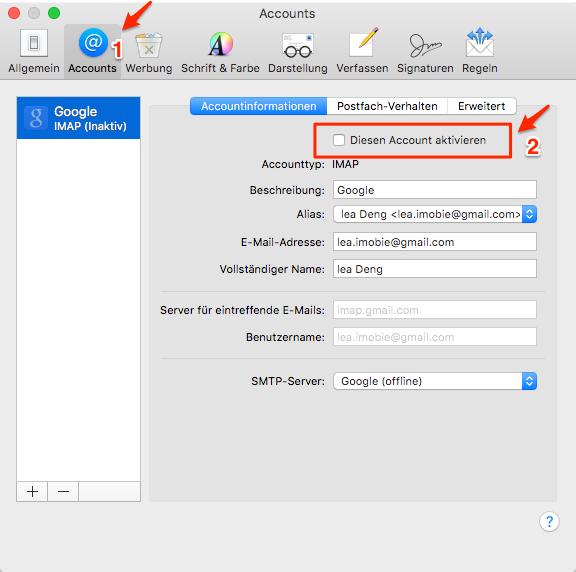 Mac OS (High) Sierra Mail Probleme: Dauerhaft Willkommen-Nachrichten、