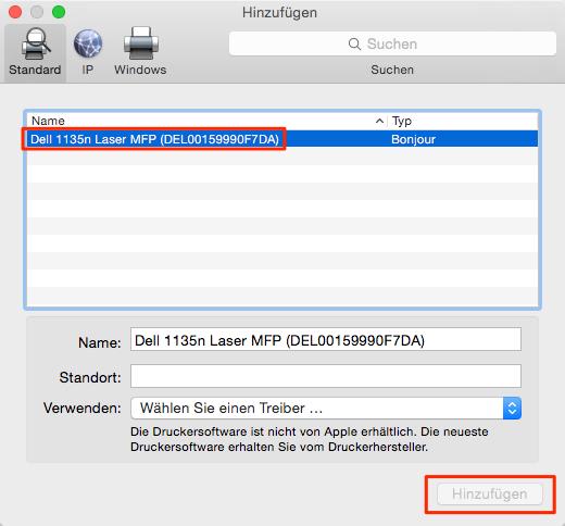 Druckerprobleme - Mac OS X El Capitan/macOS Sierra/macOS High Sierra Fehler