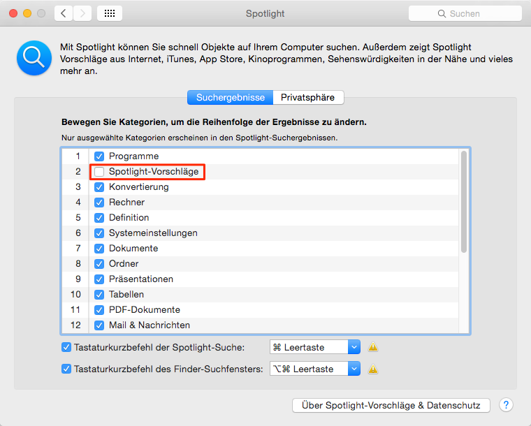 Spotlight Problem am Mac beheben – Mac OS X Probleme