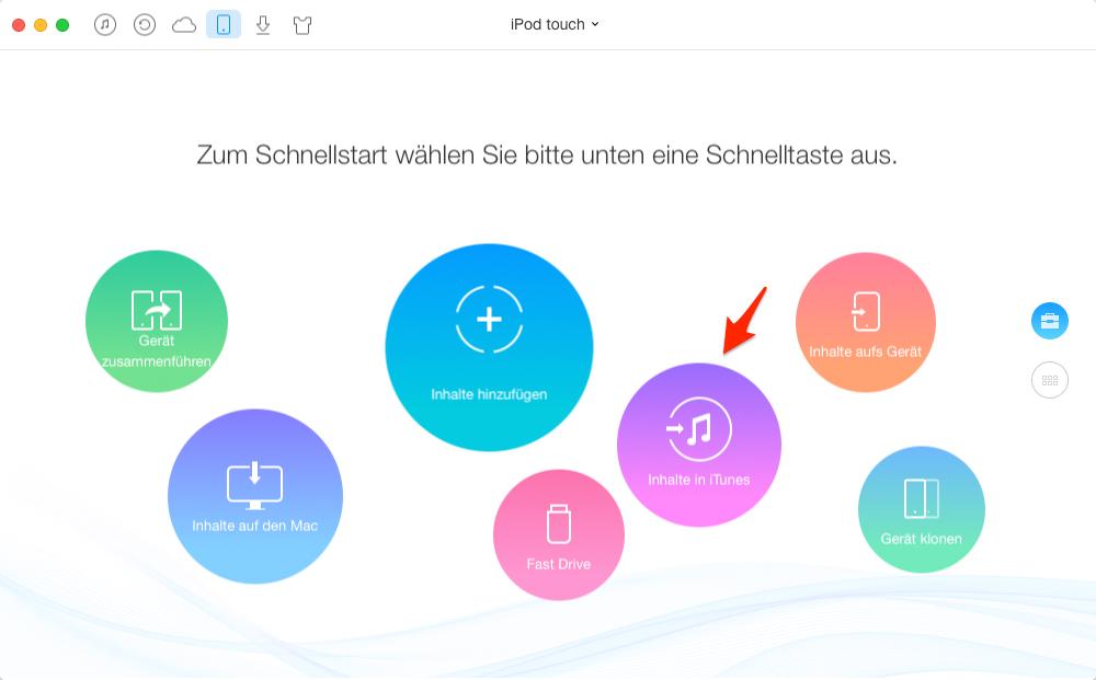 Daten von iPod auf iTunes übertragen