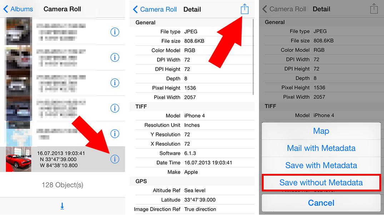 Geotagging von iPhone Fotos entfernen