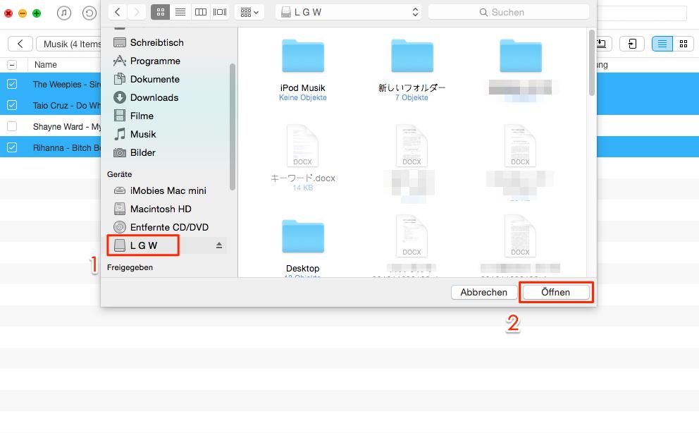 Schneller! Musik vom iPod auf Festplatte übertragen – Schritt 3