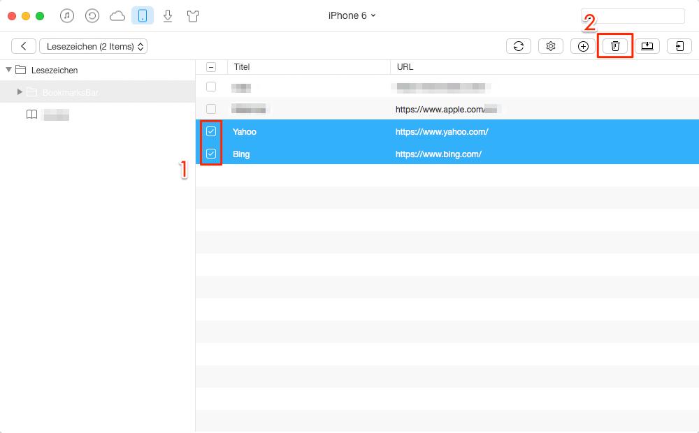 Schnell! Lesezeichen beim Browser löschen – Schritt 3