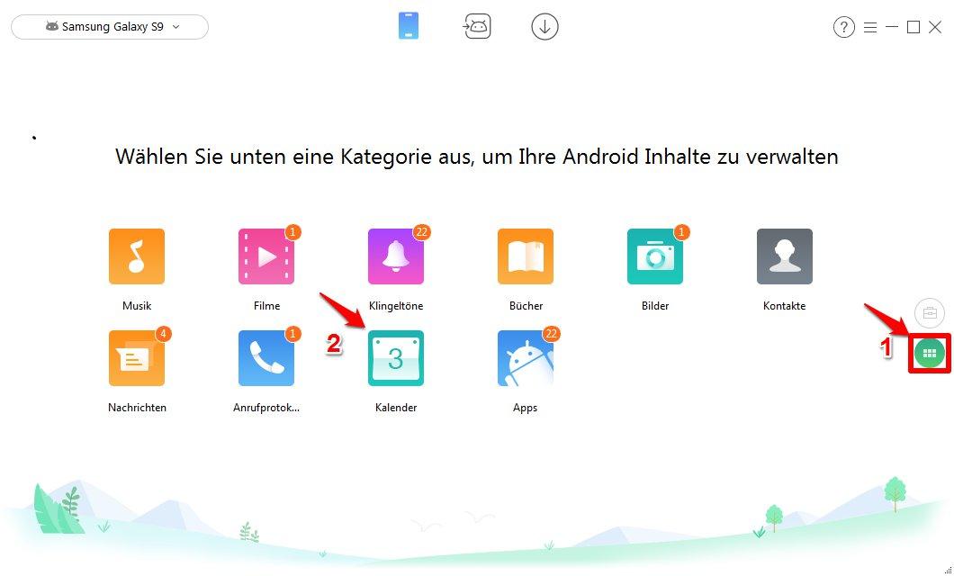 Kalender synchronisieren Samsung - Schritt 2