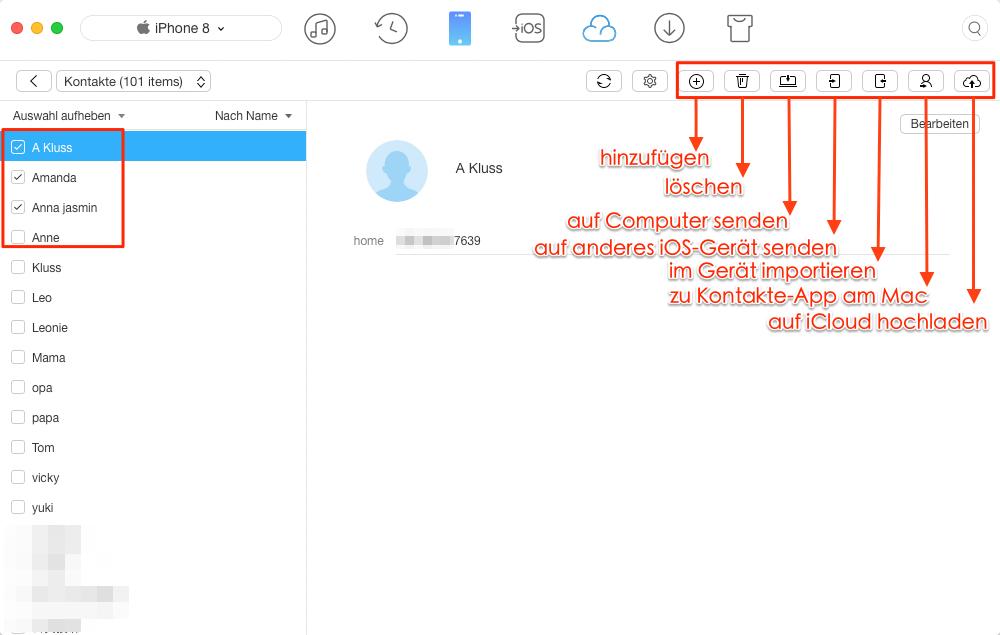 Über AnyTrans übertragen Sie die Dateien von iOS-Gerät – Schritt 3