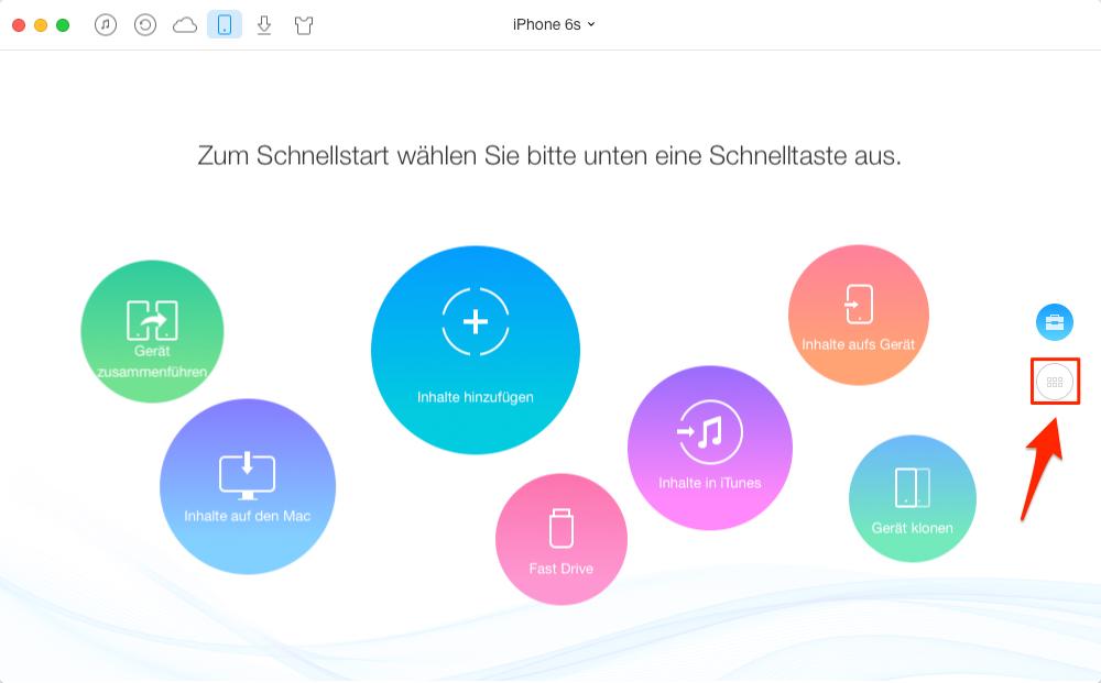 Musik vom iPhone auf Computer übertragen – Schritt 1