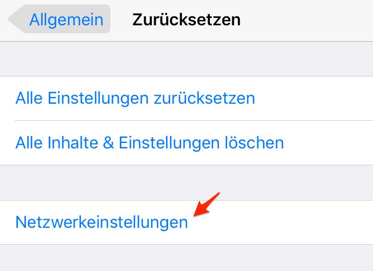 Netzwerkeinstellungen zurücksetzen – Siri Problem lösen
