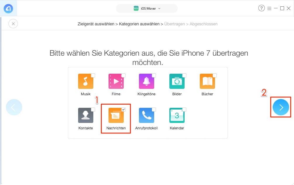 Direkt! SMS von Android auf iPhone übertragen – Schritt 4