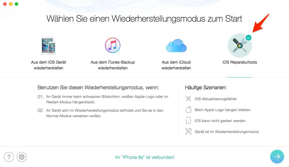 iOS 11 Update im Apple-Logo steckenbleiben