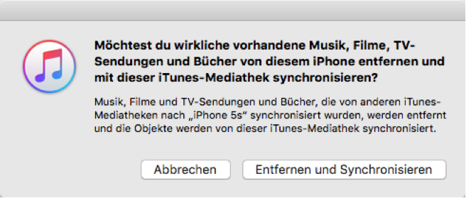 MUSIK VOM IPHONE IN ITUNES MEDIATHEK ÜBERTRAGEN