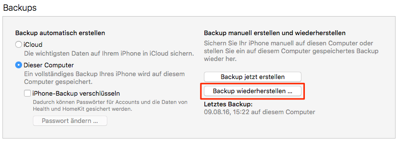SMit Backup Datenmüll loswerden – iPhone Speicher optimieren
