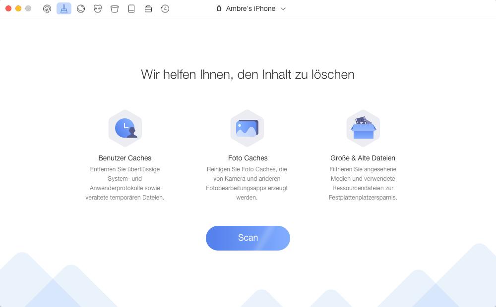 Andere Dateien mit 1 Klick reinigen – Speicher für iOS 11 freigeben