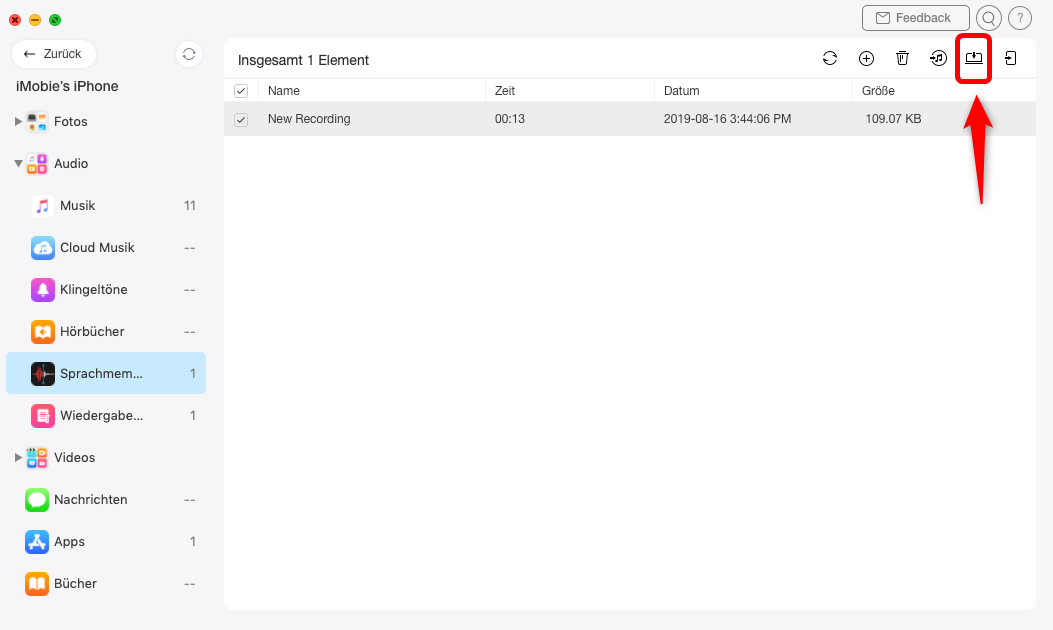sprachmemos-klicken-auf-mac-exportieren