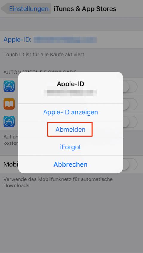Super Mario iOS – App Store ein/ausloggen