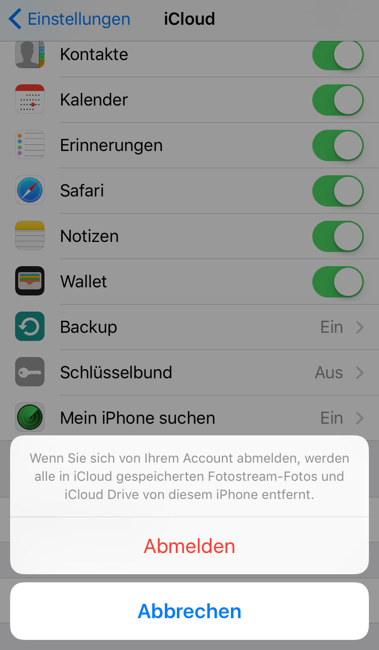 iCloud Verbindung trennen – iOS 11/11.1/11.2 Bluetooth Probleme