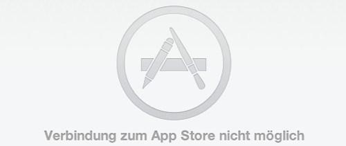 Verbindung zum App Store nicht möglich