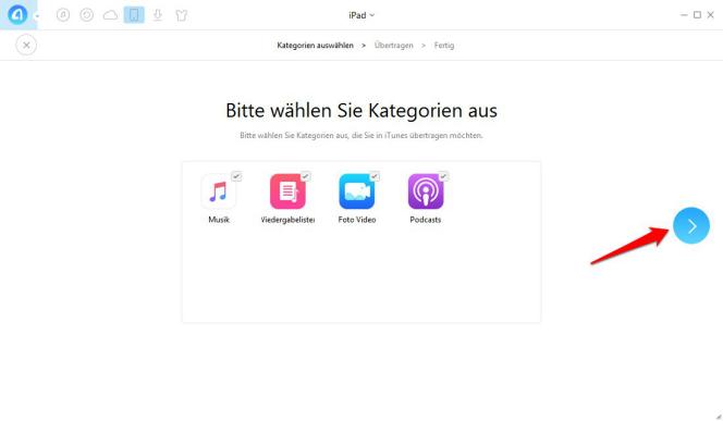 Wie kann man iTunes-Inhalte sichern - Schritt 2