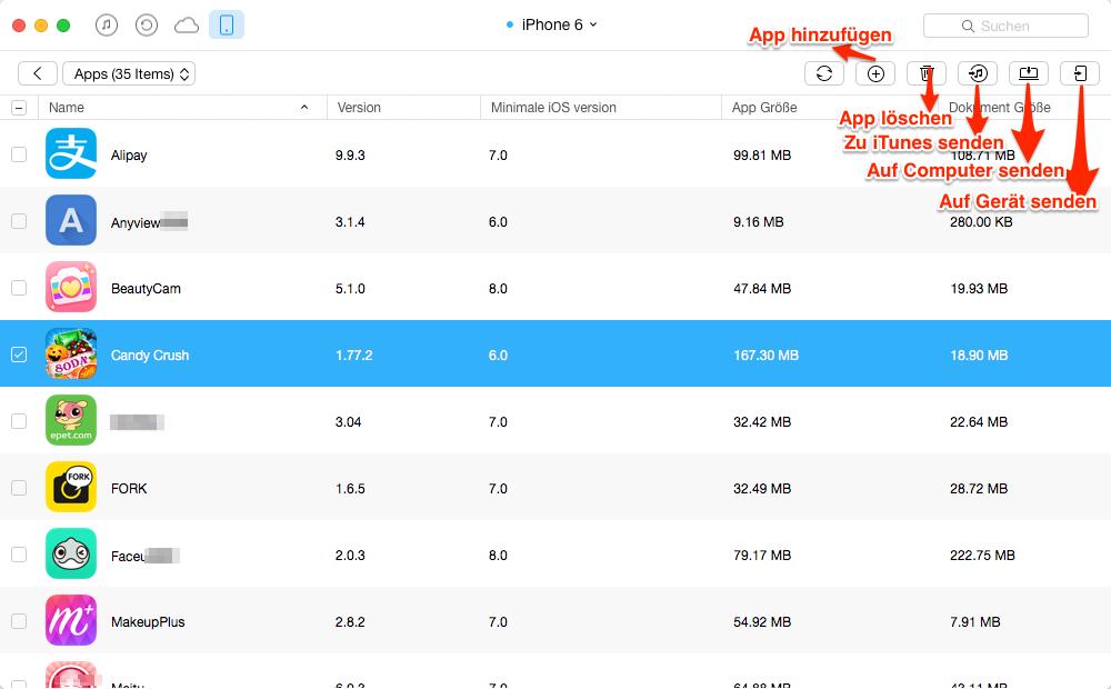 Candy Crush vom iPhone auf iPad direkt übertragen – Schritt 4