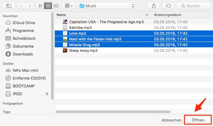 Musik vom Computer auf iPod übertragen – Schritt 4