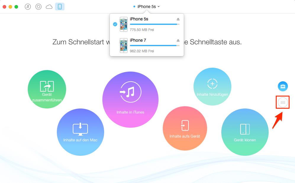 Musik zwischen zwei iOS-Geräte versenden – Schritt 2