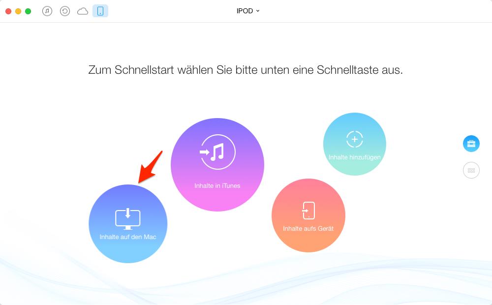 Musik vom iPod auf den Mac übertragen – Schritt 2