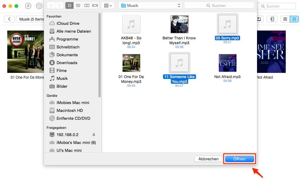Musik auf iPod ohne iTunes - Schritt 3