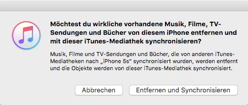 Musik auf iPhone X/8/7 mit iTunes – iTunes Gefahr