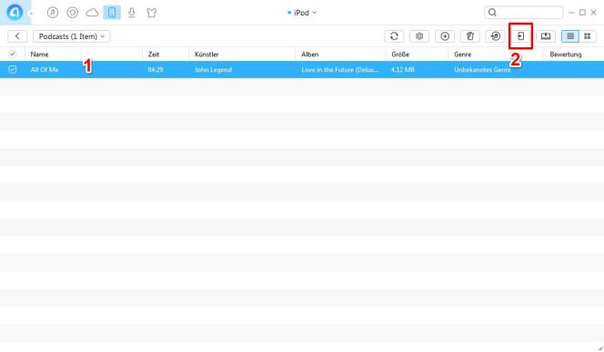 Podcasts vom iPod Nano auf iPhone - Schritt 3