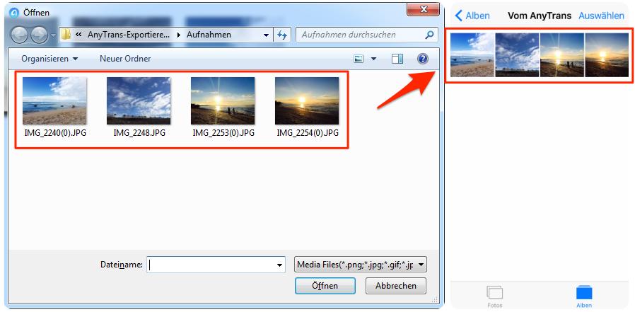 Bilder vom PC auf iPhone XR/XS (Max) richtig übertragen – Schritt 3