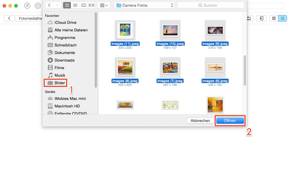 Direkt! Fotos vom Computer auf iPad übertragen - Schritt 3